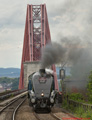Sir Nigel Gresley 60007 Steam Train at Forth Bridge 6th July 2015