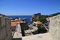 Walking Dubrovnik city walls July 2017