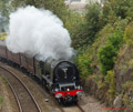 Duchess of Sutherland Steam Train in Fife 14th September 2014