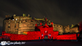 Edinburgh Castle red for remembrance 13th November 2017