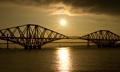 Forth Bridges at dusk 10th July 2013