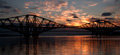 Forth Bridges at Sunset 8th August 2013