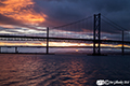 Forth Road Bridge sunset 8th July 2018