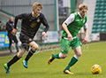 Hibernian v Celtic Youth match at Easter Road 12th April  2018