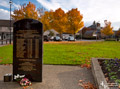 Loanhead Mining Memorial and Autumn trees