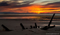 Longniddry Bents Beach sunset - 3rd July 2015