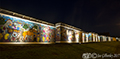 Mayfield & Easthouses Big Wall Mural lit at night 1st August 2017
