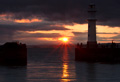 Newhaven Harbour at sunset - 15th July 2013