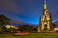 Scott Monument - lit up - 26th September 2016