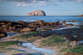 The Bass Rock & Tantallon Castle from Seacliff Beach