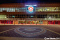 Heart of Midlothian FC Tynecastle Stadium lit at night
