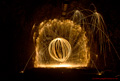 Light Trails with burning wire wool - 17th March 2014