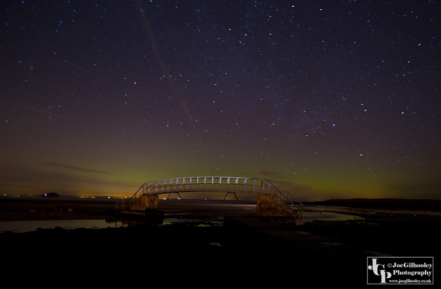 Northern Lights at Bridge to Nowhere Belhaven